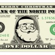 Vector Santa One Dollar Bill — Stock Vector #7497670