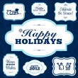 Vector Holiday Frame Set — Vector de stock #7691345