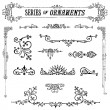 Stock Vector: Vector Vintage Ornament Set
