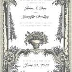Vector Victorian Two Part Wedding Frame — Stock Vector