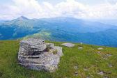 Stone on mountain's top — Stock Photo