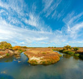 River bend in steppe — Stock Photo