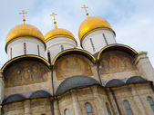Fragment of exterior of the Assumption cathedral — Stock Photo