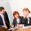 Three business are meeting — Stock Photo #6878364