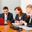 Three business are meeting — Foto de Stock