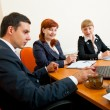 Royalty-Free Stock Photo: Three business are meeting