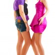 Two young club style beautiful girls — Stock Photo