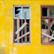 Stock Photo: Two windows boarded