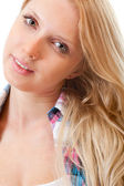 Portrait of young beautiful blond — Stock Photo