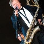 Russian jazz musician Igor Butman performs — Stock Photo