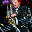 Russian jazz musician Igor Butman performs — Stock Photo