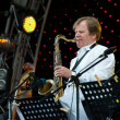 Russian jazz musician Igor Butman performs — Stock Photo #7093556