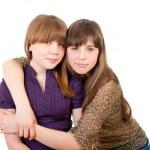 Full-length portrait of two girls — Stock Photo #7093561