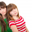 Full-length portrait of two girls — Stock Photo #7093575