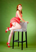 Pin-up style girl — Stock Photo