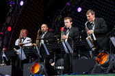 Igor Butman and his band performing — Stok fotoğraf