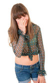 Teen girl crying — Stockfoto