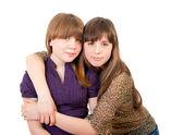 Retrato de corpo inteiro de duas meninas — Foto Stock