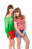 Retrato de cuerpo entero de dos niñas — Foto de Stock