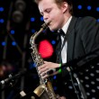 Russian jazz musician Igor Butman performs — Stock Photo #7131699