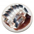 Herring on the plate - Stock Photo