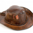 Stock Photo: Cowboy leather hat