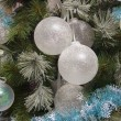 Stock Photo: Translucent balls on christmas fir