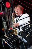 Musicista jazz russo igor butman esegue — Foto Stock