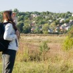 Backpacker woman — Stock Photo #7609502