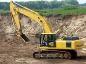 The excavator — Stock Photo