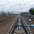 Railway junction. - Stock Photo