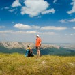 Happy hiker — Stock Photo