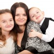 Mother with children portrait — Stock Photo