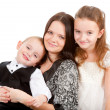 Mother with children portrait — Stock Photo #7619009