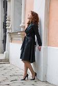 Redhead curly girl — Foto de Stock