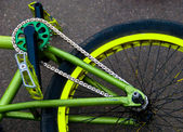 Bike fragment — Stock Photo