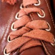 Laces of brown shoes — Stock Photo