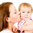 Happy mother and little daughter — Stock Photo #7736468