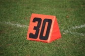 Football Field Yard Marker — Stock Photo