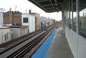 Chicago Train Platform — Stock Photo