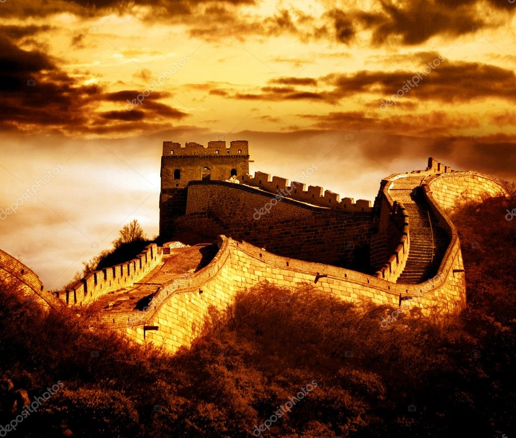 Great wall of Badaling,Beijing,China.  — Stok fotoğraf #7497090