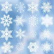 Set of beautiful complex snowflakes — Vector de stock #6777196