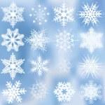 conjunto de hermosos complejos copos de nieve — Vector de stock