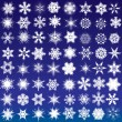 Set of snowflakes — Vector de stock