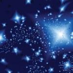 Stars in the night. Vector illustration — Stock Vector #6955284