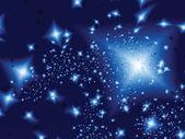 Estrellas en la noche. ilustración vectorial — Vector de stock