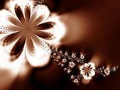 Guirnalda de flores — Foto de Stock