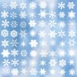 Decorative snowflakes — Vector de stock