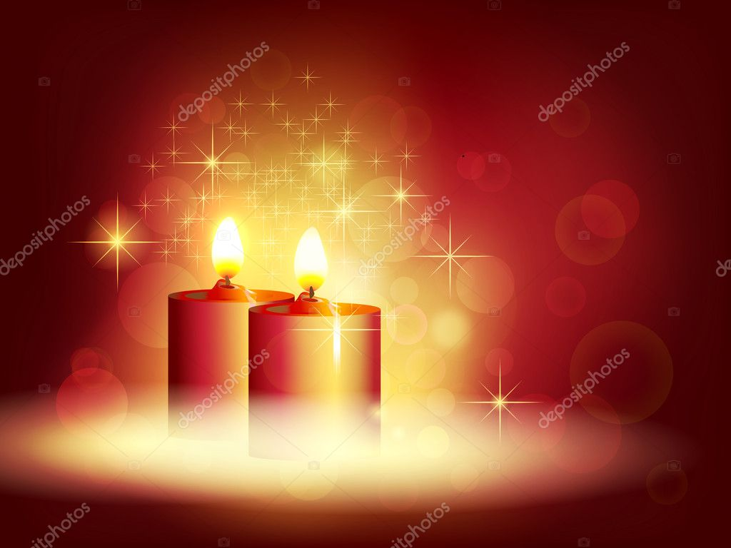 Candlelight. Vector illustration — ベクター素材ストック #7386994
