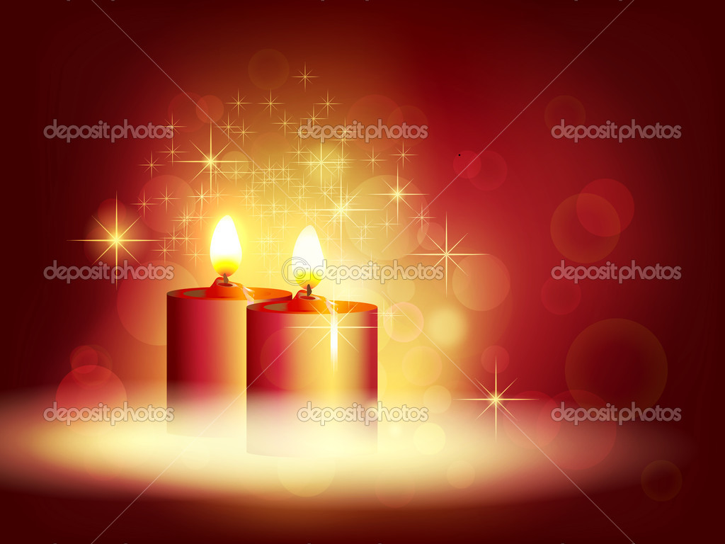 Candlelight. Vector illustration — Imagen vectorial #7386994